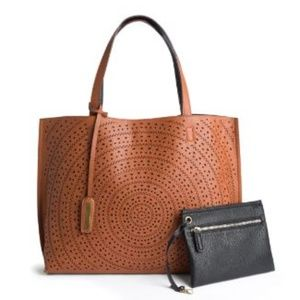Street Level LaserCut Two-Tone Reversible Tote NWT
